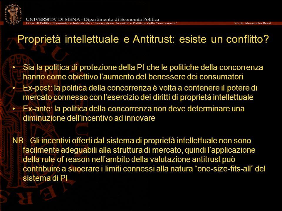Proprietà intellettuale e Antitrust: esiste un conflitto