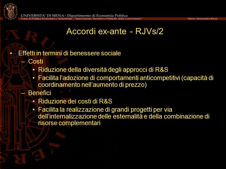 Accordi ex-ante - RJVs/2