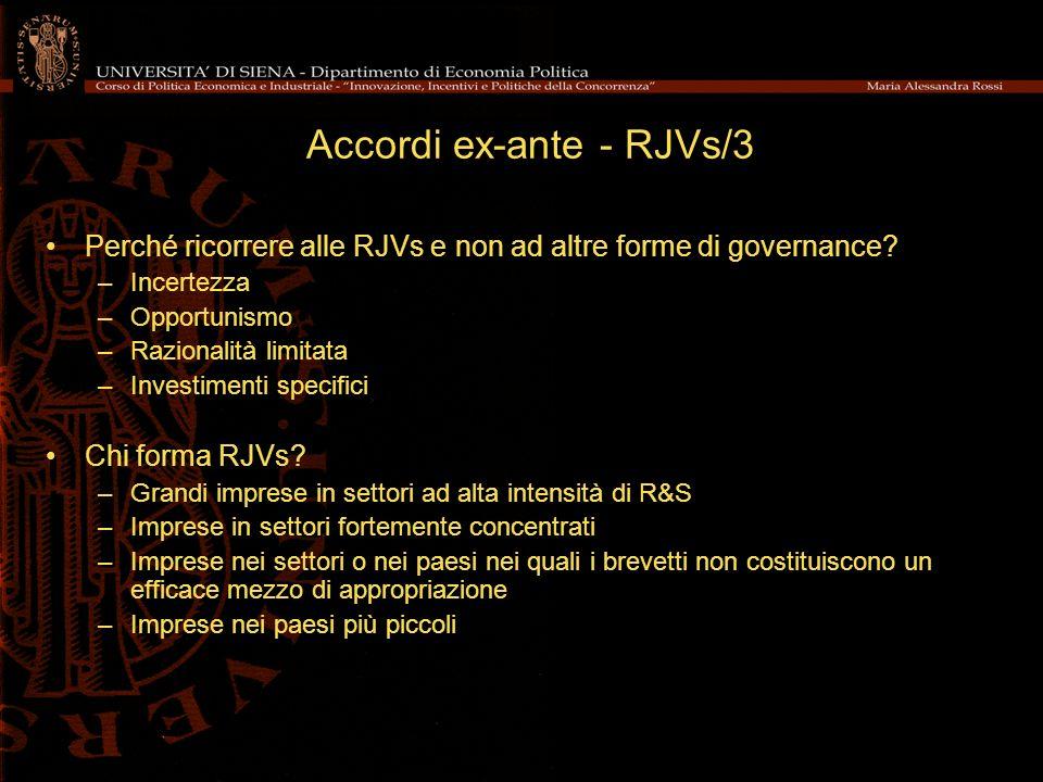 Accordi ex-ante - RJVs/3