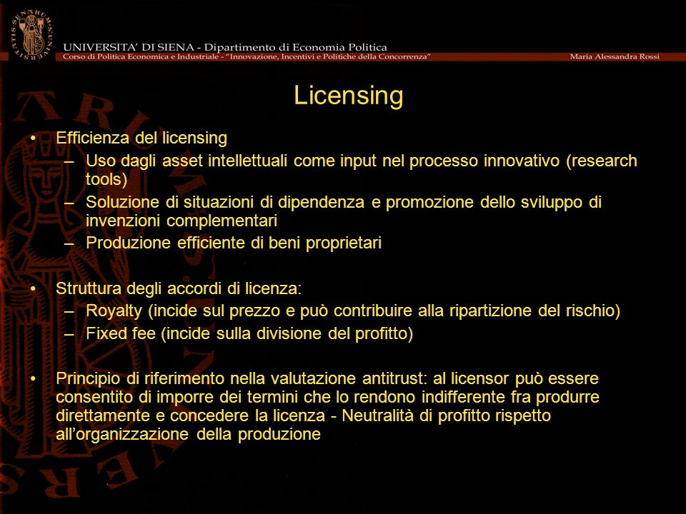 Licensing Efficienza del licensing