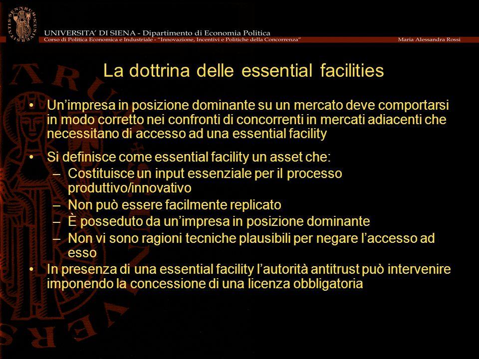 La dottrina delle essential facilities