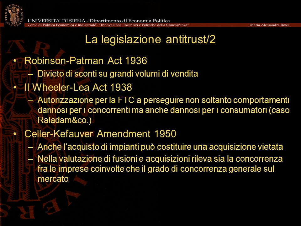 La legislazione antitrust/2