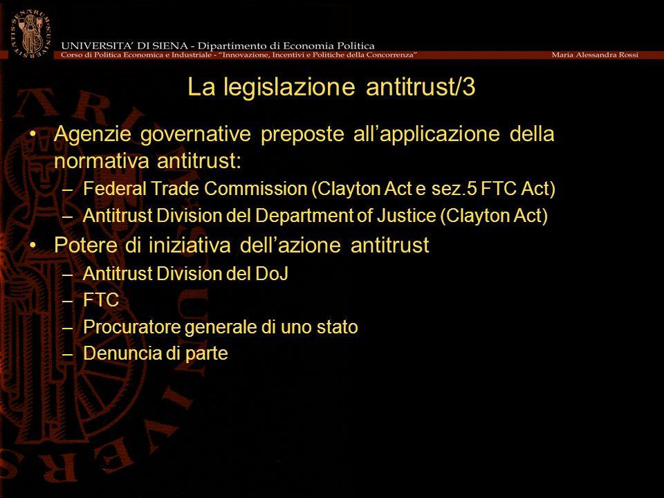 La legislazione antitrust/3