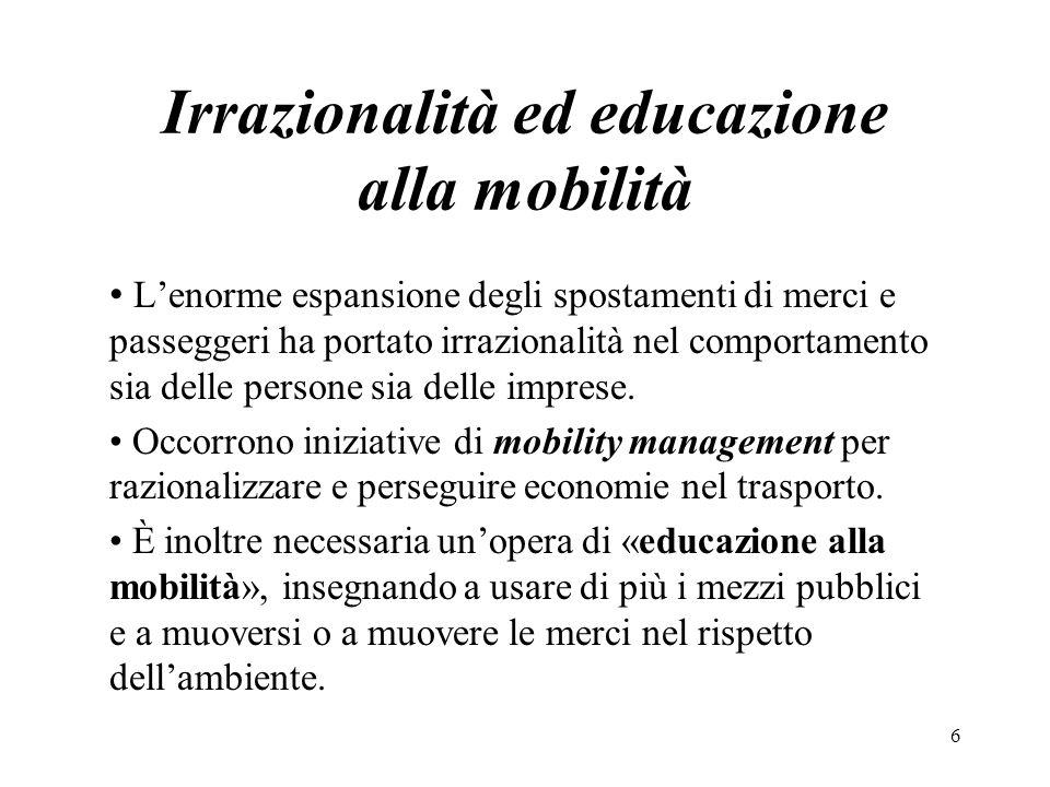 Irrazionalità ed educazione alla mobilità