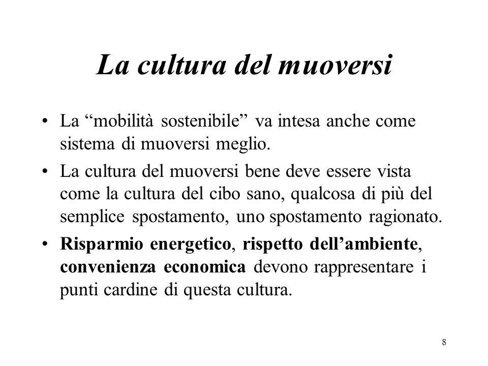 La cultura del muoversi