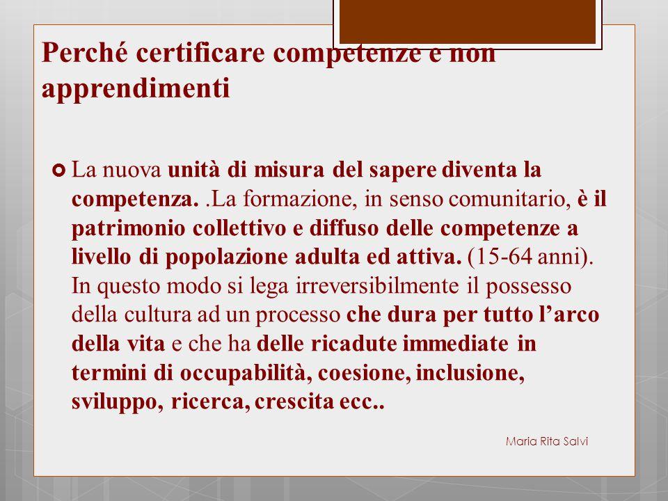 Perché certificare competenze e non apprendimenti