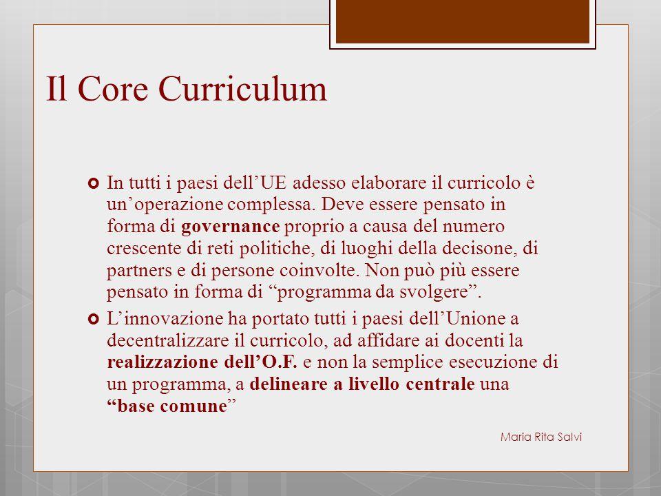 Il Core Curriculum