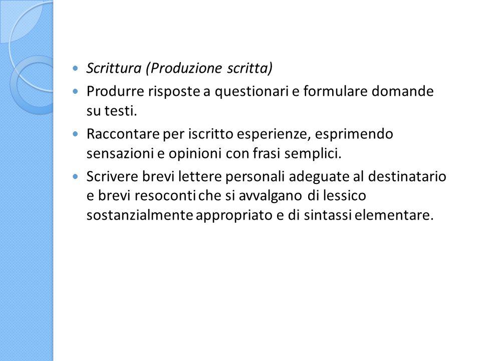 Scrittura (Produzione scritta)
