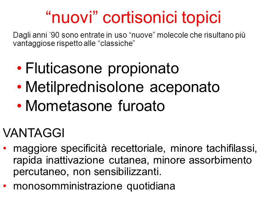 nuovi cortisonici topici