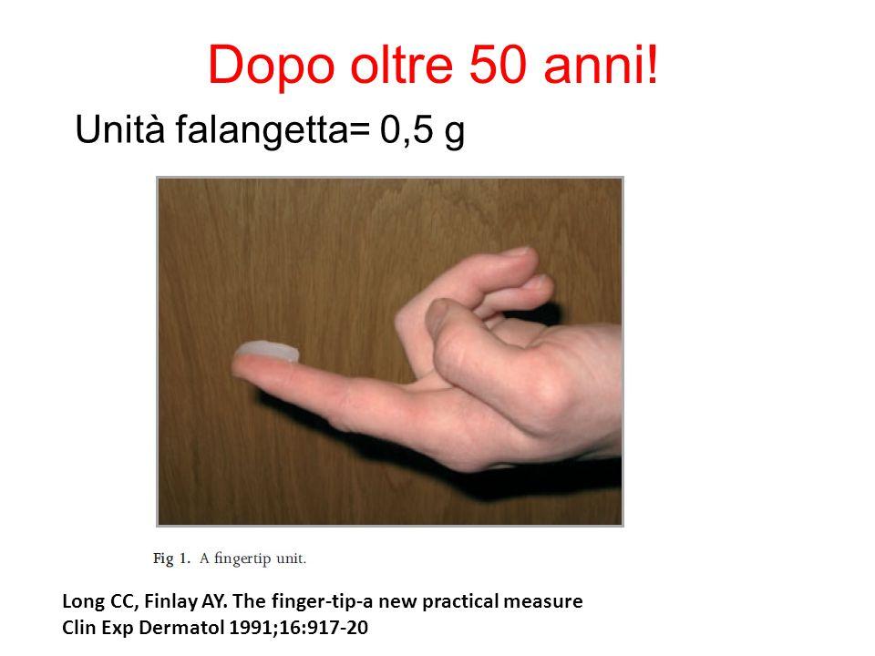 Dopo oltre 50 anni! Unità falangetta= 0,5 g