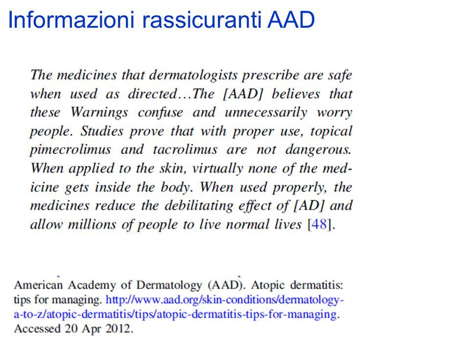 Informazioni rassicuranti AAD