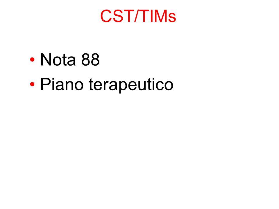 CST/TIMs Nota 88 Piano terapeutico 43 43 43