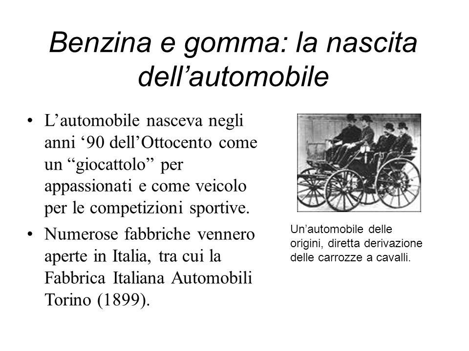 Benzina e gomma: la nascita dell'automobile