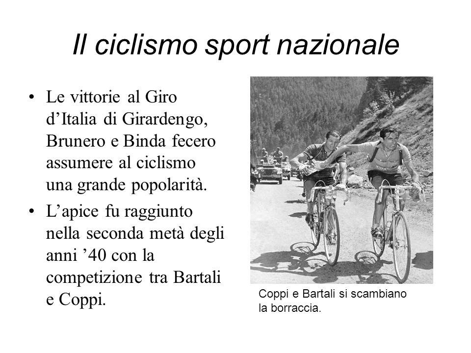 Il ciclismo sport nazionale