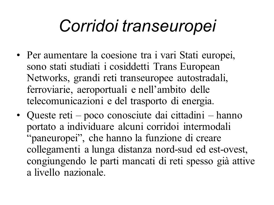Corridoi transeuropei
