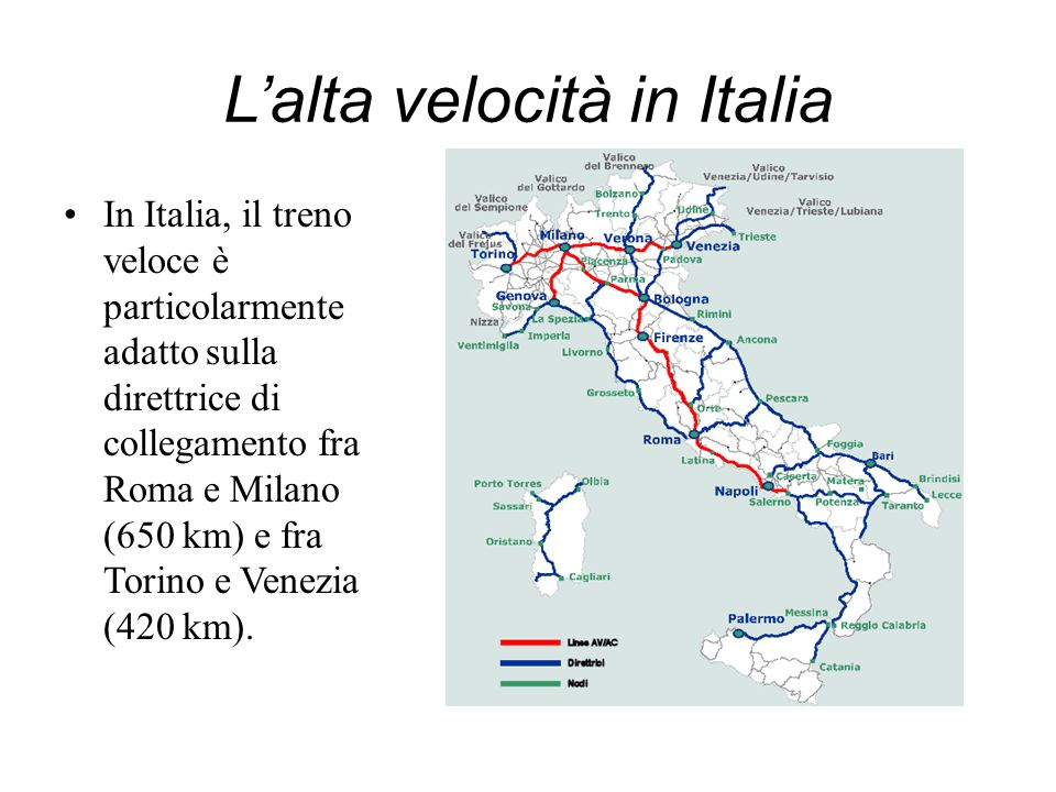 L'alta velocità in Italia