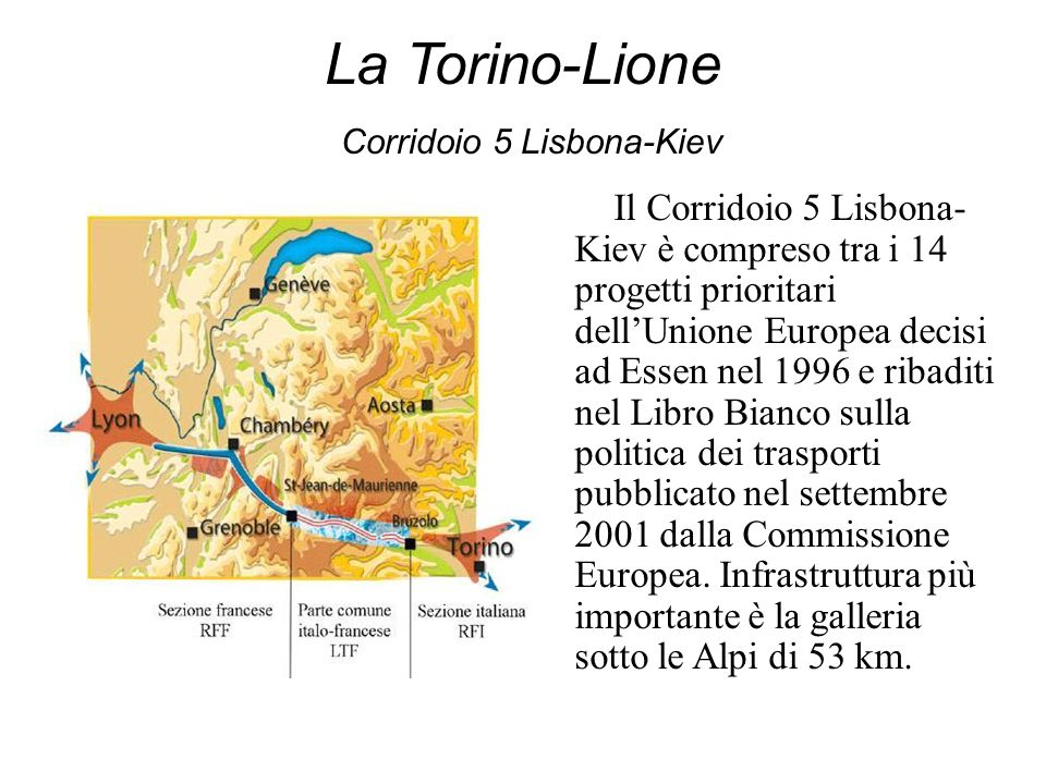 La Torino-Lione Corridoio 5 Lisbona-Kiev