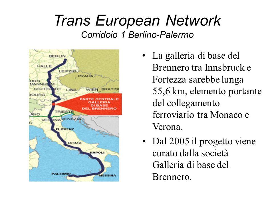 Trans European Network Corridoio 1 Berlino-Palermo