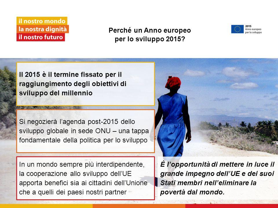 Perché un Anno europeo per lo sviluppo 2015