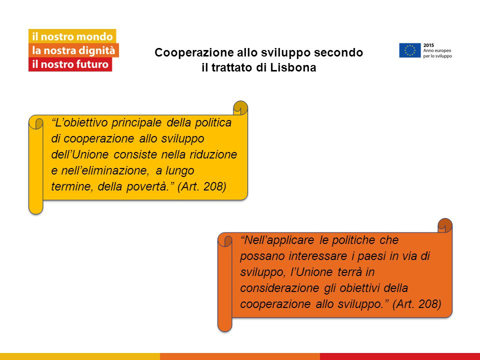 Cooperazione allo sviluppo secondo il trattato di Lisbona