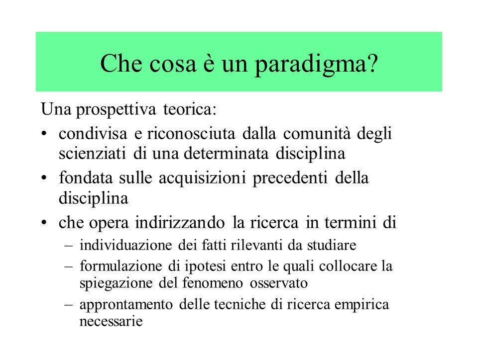Che cosa è un paradigma Una prospettiva teorica: