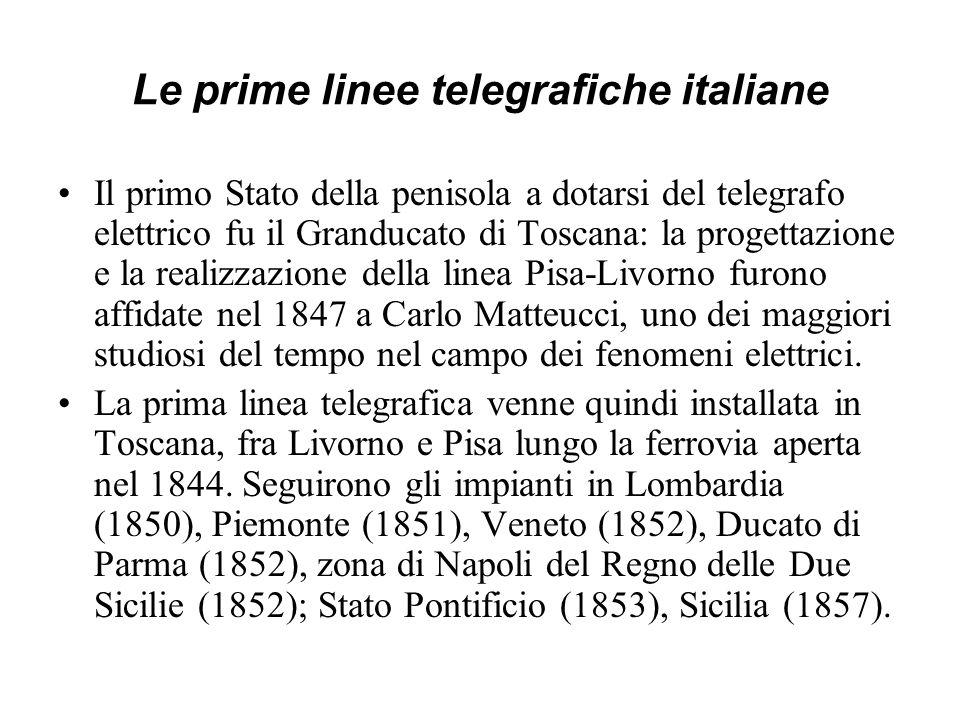 Le prime linee telegrafiche italiane