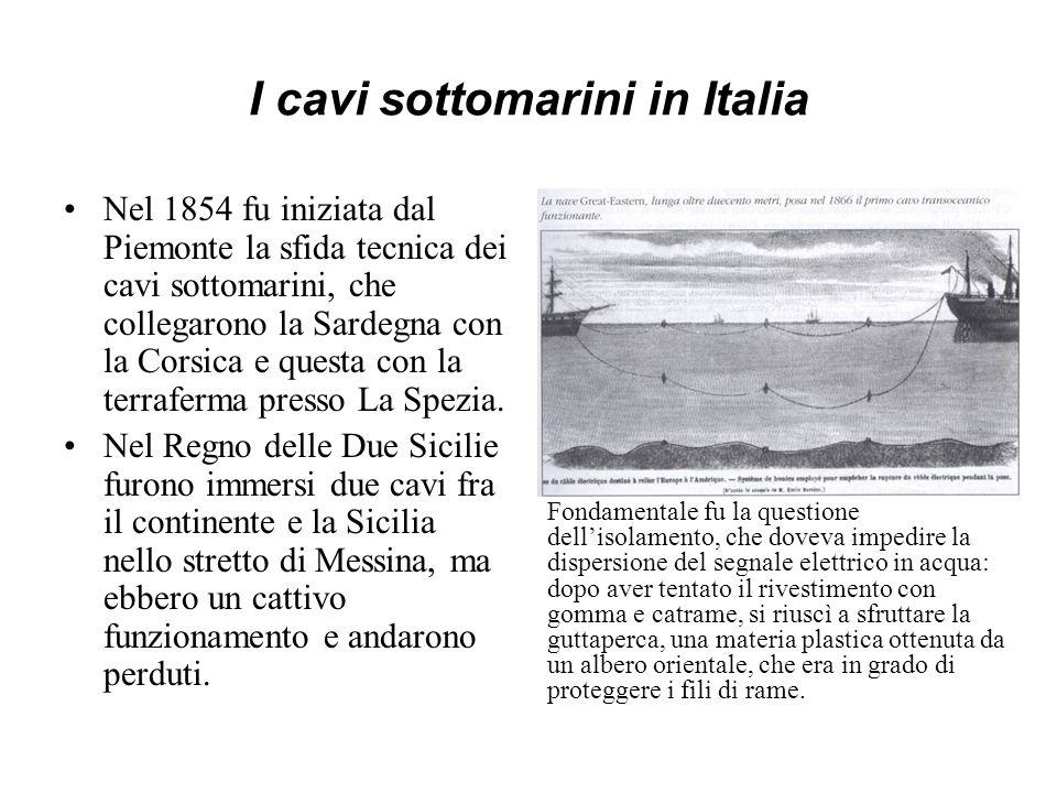 I cavi sottomarini in Italia