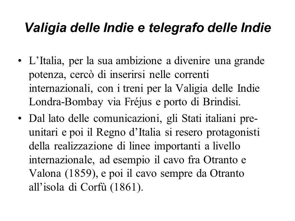 Valigia delle Indie e telegrafo delle Indie
