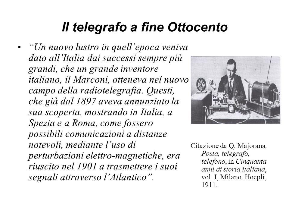 Il telegrafo a fine Ottocento