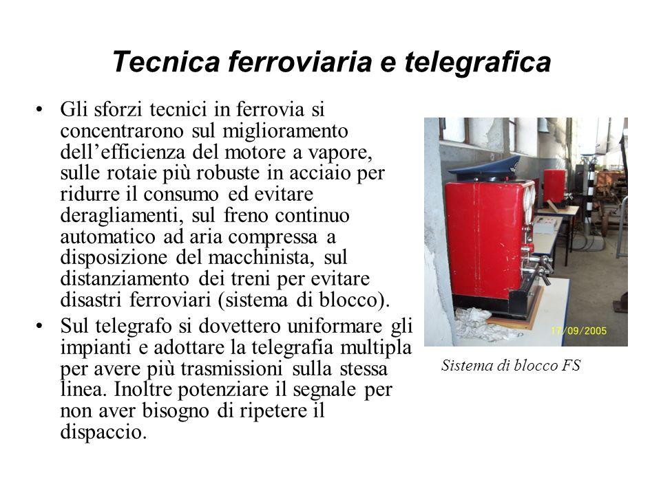 Tecnica ferroviaria e telegrafica