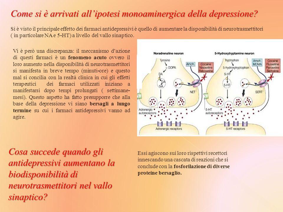Come si è arrivati all'ipotesi monoaminergica della depressione