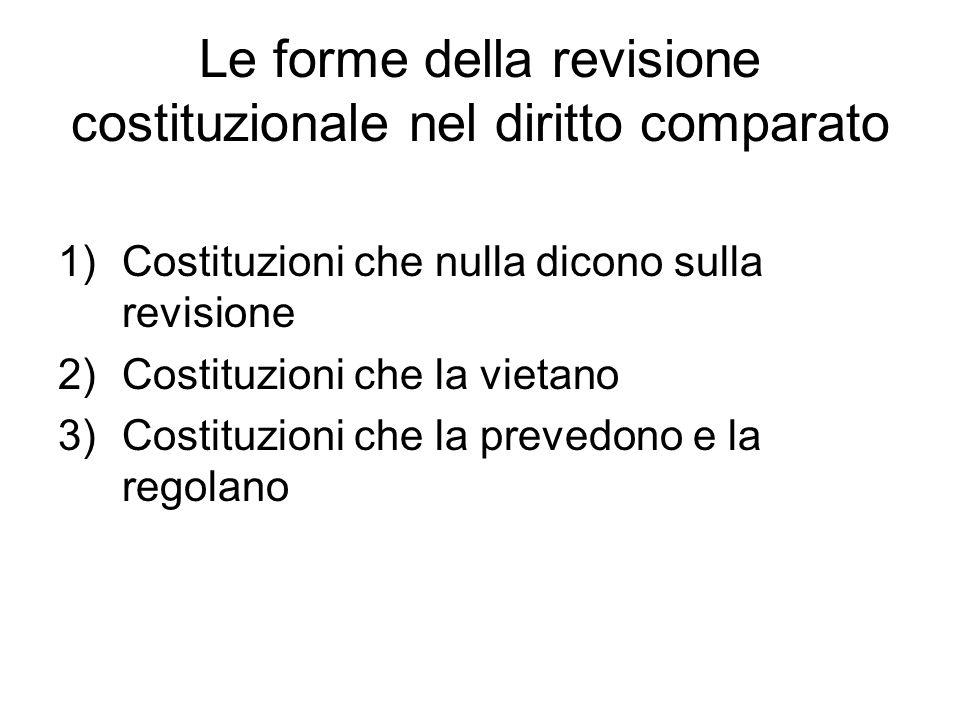 Le forme della revisione costituzionale nel diritto comparato