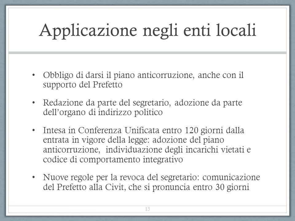 Applicazione negli enti locali