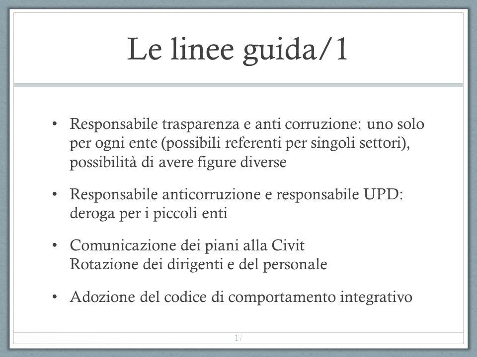 Le linee guida/1