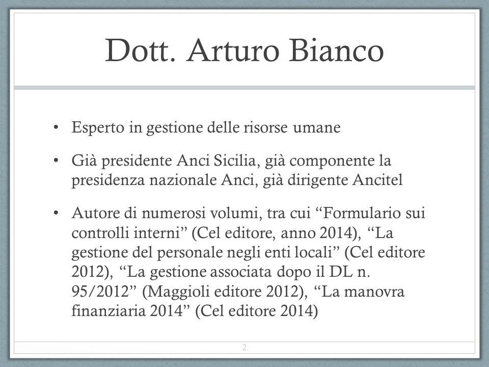Dott. Arturo Bianco Esperto in gestione delle risorse umane