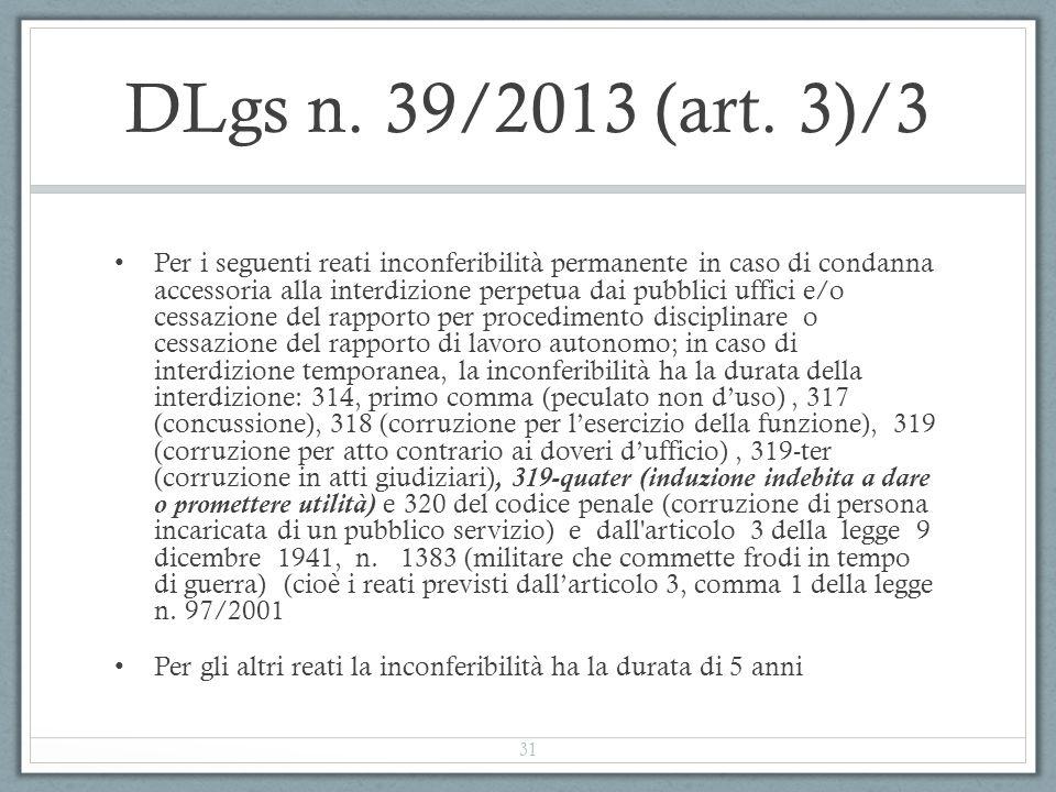 DLgs n. 39/2013 (art. 3)/3