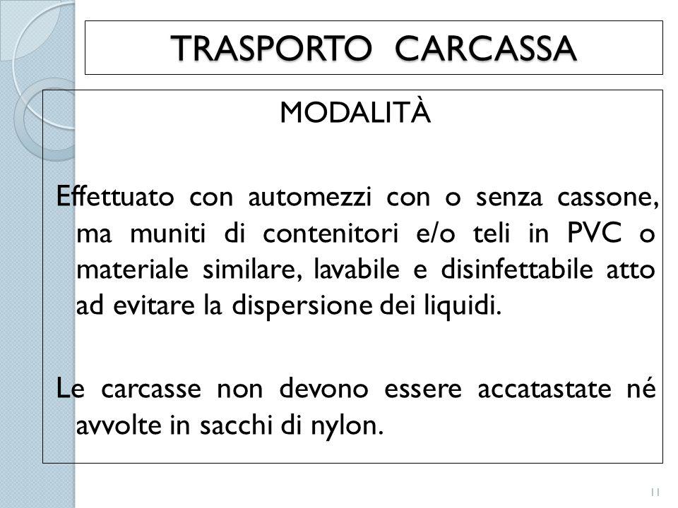 TRASPORTO CARCASSA