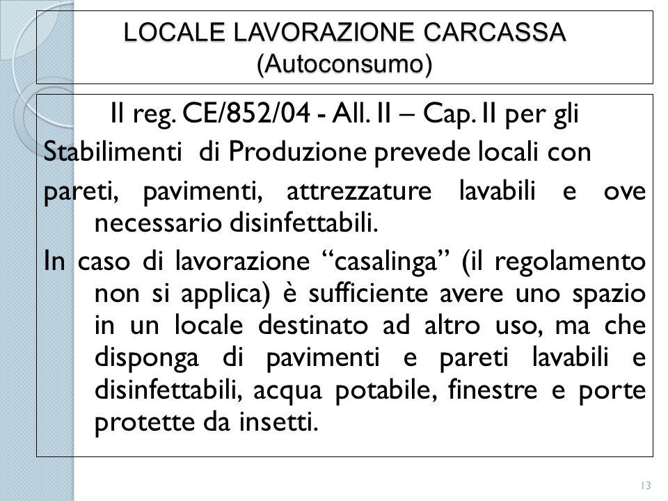 LOCALE LAVORAZIONE CARCASSA (Autoconsumo)