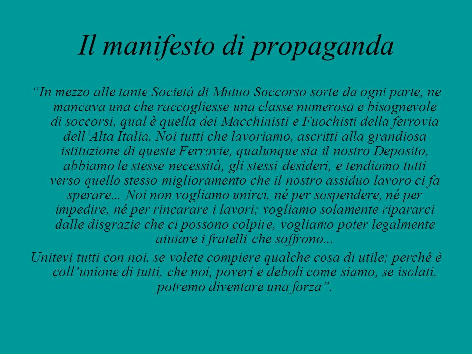 Il manifesto di propaganda