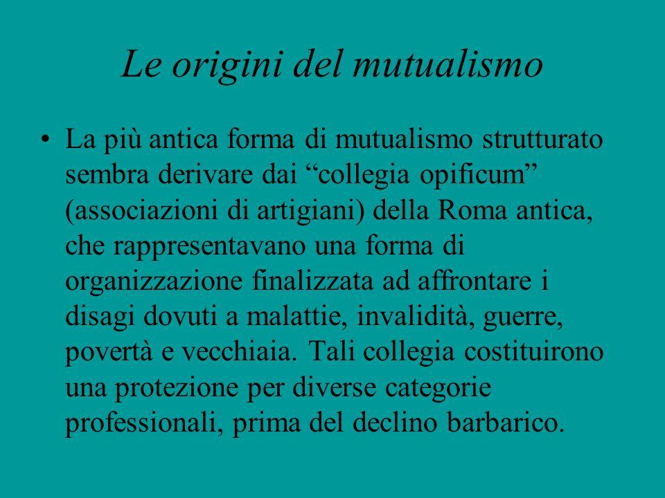 Le origini del mutualismo