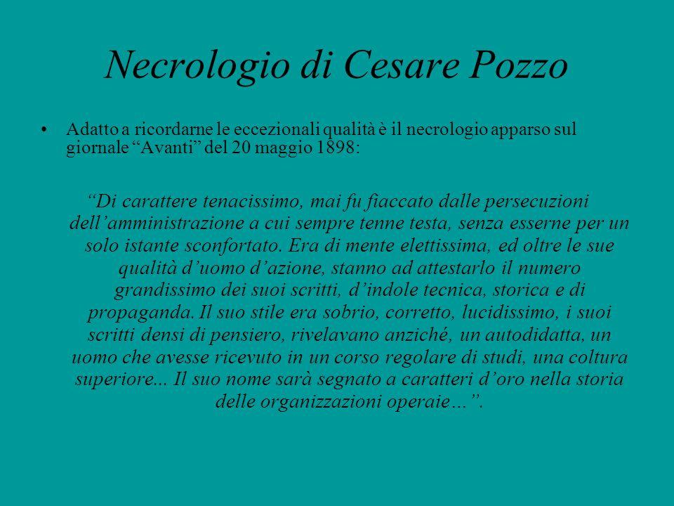 Necrologio di Cesare Pozzo
