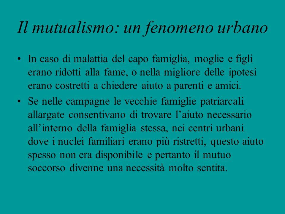 Il mutualismo: un fenomeno urbano