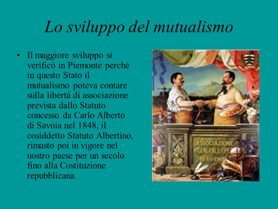 Lo sviluppo del mutualismo