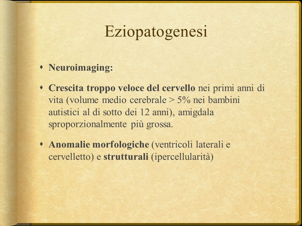 Eziopatogenesi Neuroimaging: