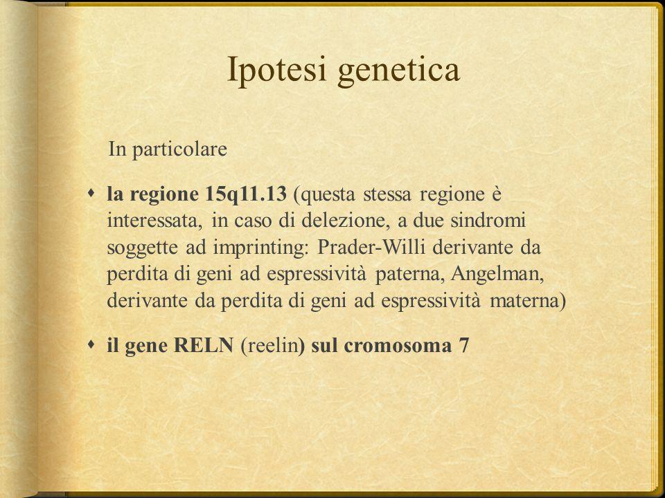 Ipotesi genetica In particolare
