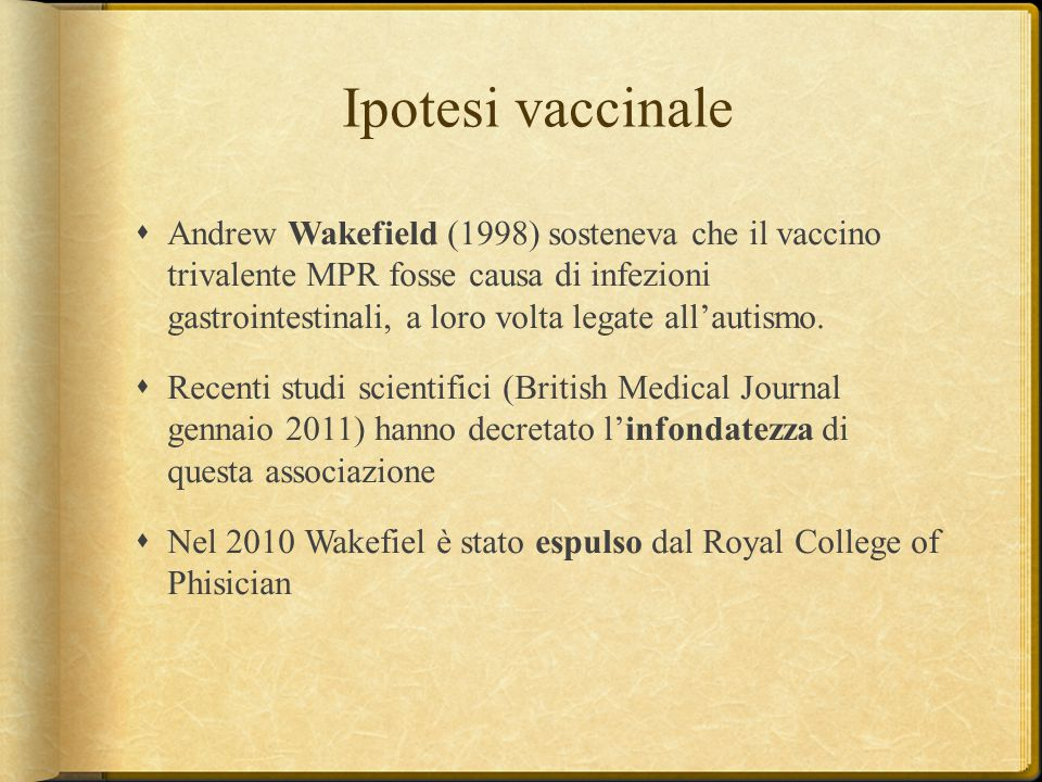 Ipotesi vaccinale