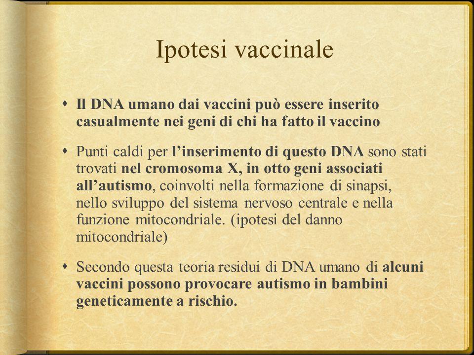 Ipotesi vaccinale Il DNA umano dai vaccini può essere inserito casualmente nei geni di chi ha fatto il vaccino.