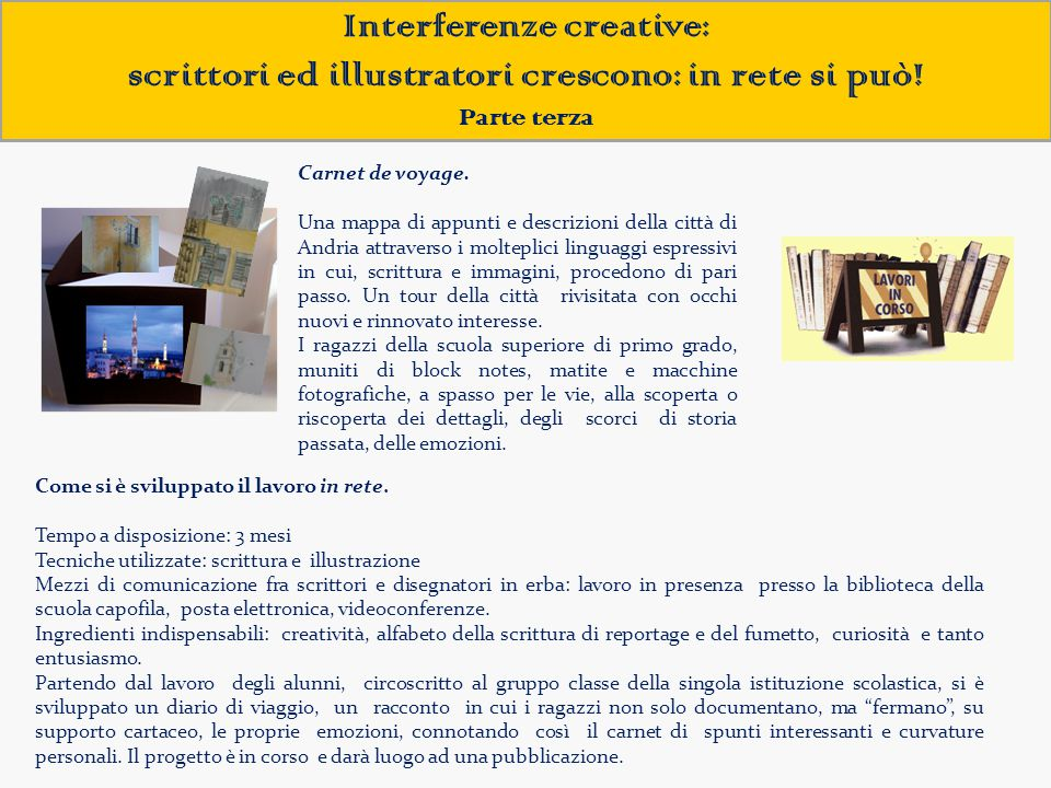 Interferenze creative: scrittori ed illustratori crescono: in rete si può!