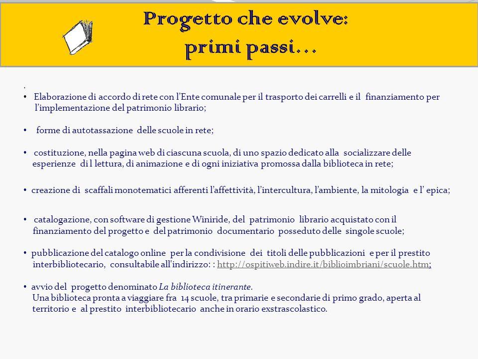 Progetto che evolve: primi passi… .
