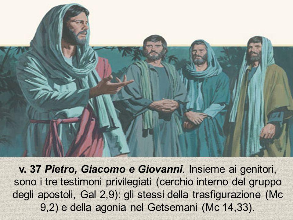 v. 37 Pietro, Giacomo e Giovanni